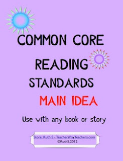 photo of Common Core Reading Standards Main Idea PDF Teacher Park