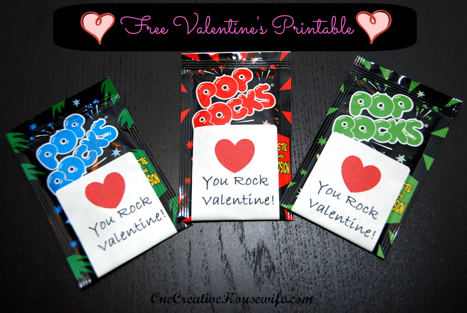 picture relating to You Rock Valentine Printable named A person Artistic Housewife: Pop Rocks Valentine Totally free Printable