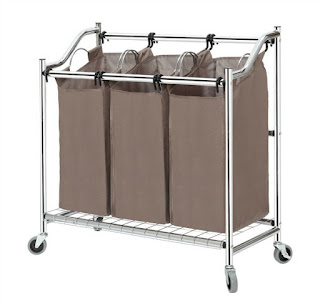 3 compartment laundry basket from Amazon