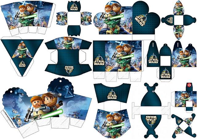 Star Wars Lego: Cajas para imprimir gratis para Fiestas.