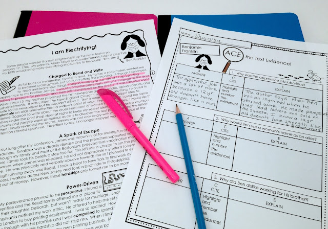 ACE find evidence in text, answer, cite, explain