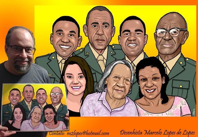 A Grande Família pelo Desenhista Marcelo Lopes de Lopes