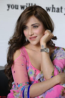 Actress Angela Krislinzki in Pink Saree Blouse Exclusive Pics March 2017 ~  012.JPG