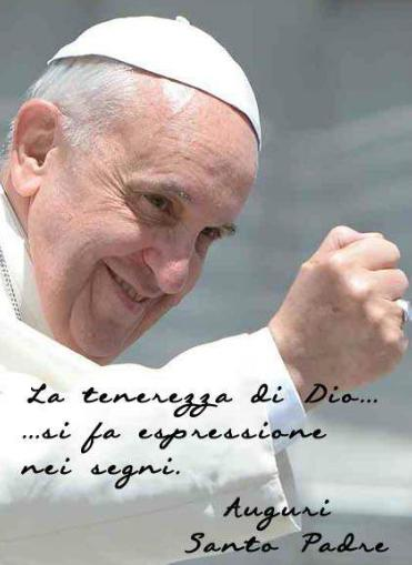 Foto Cartolina Papa Francesco Spirito Santo Tenerezza di Dio