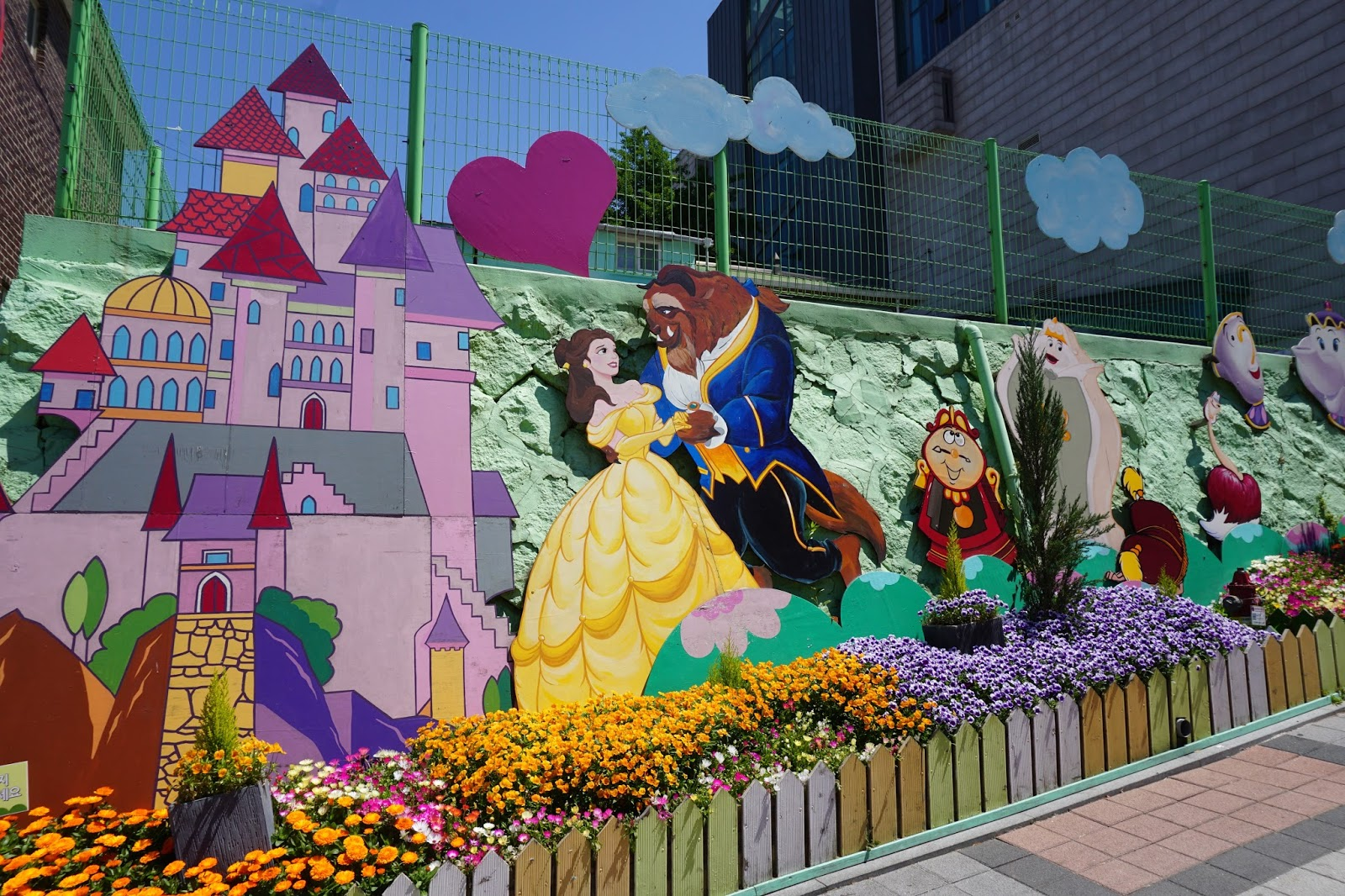 Wowkorea supporters enjoy art life best mural villages for Fairy tale mural