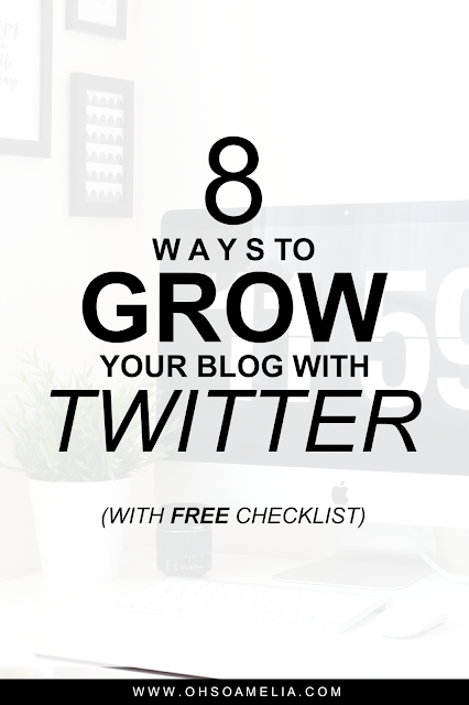 I share 8 ways to grow your blog with Twitter, plus a free daily Twitter checklist!