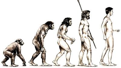 Dibujo de la Evolución del hombre para colorear o pintar