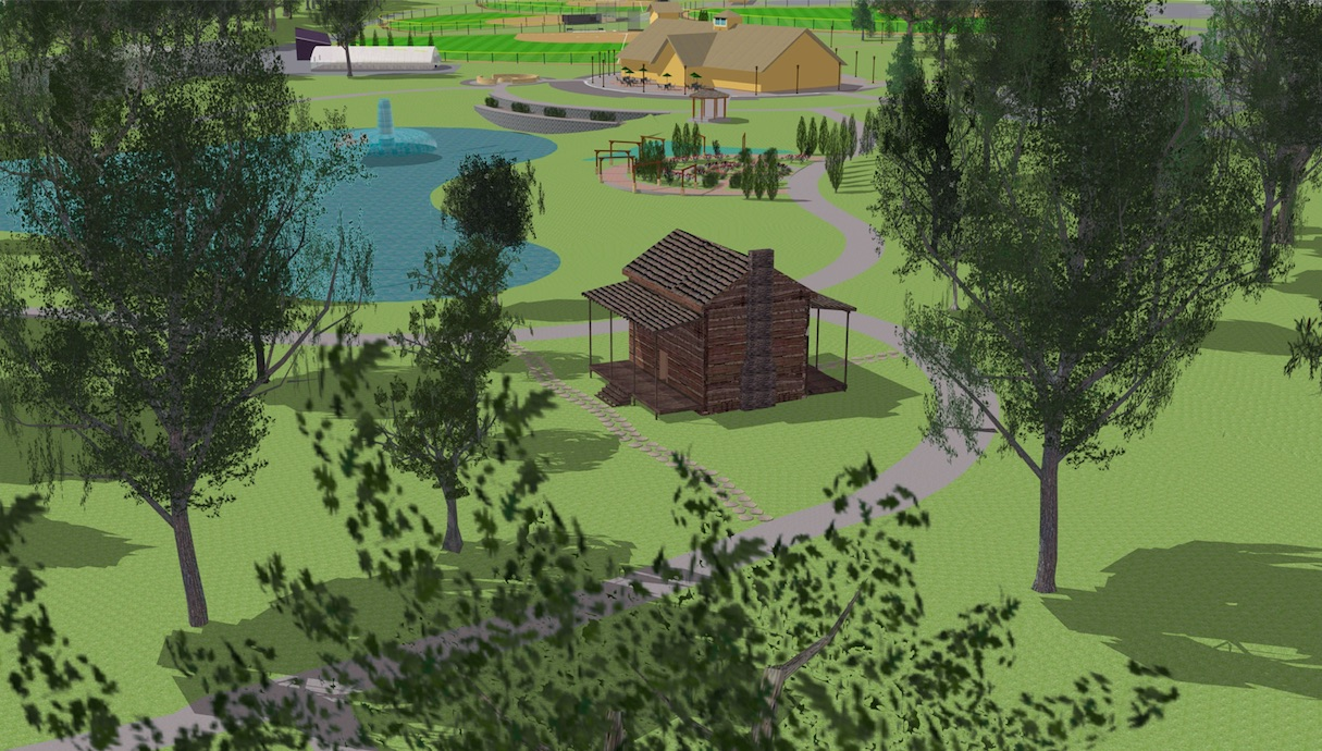 the plans at belton memorial park includes featuring the sloan tribby reconstructed cabin courtesy of shane dewald belton parks and recreation