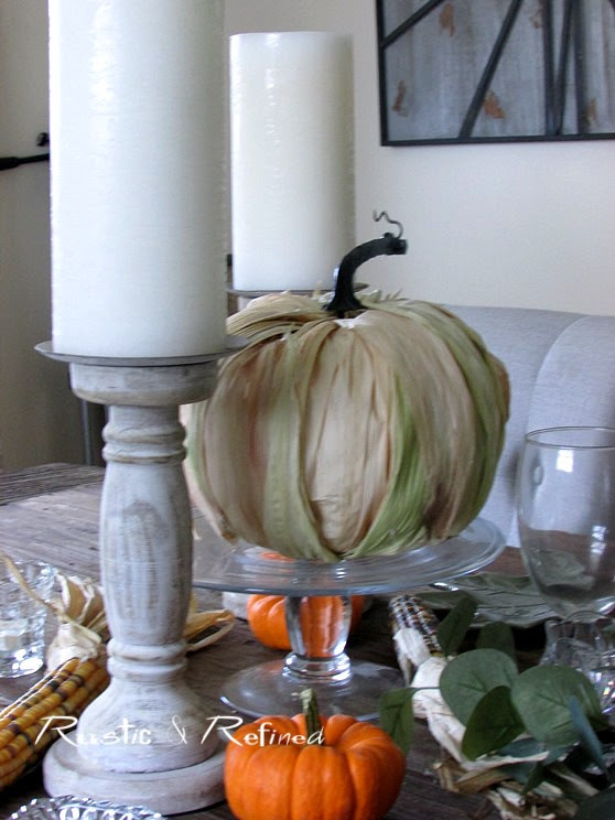 Fall Craft - DIY Drab to Fab Pumpkin; turning a cheap pumpkin into a priceless one for less than ten dollars.