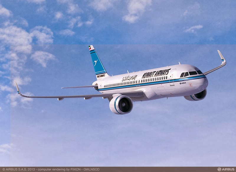 Flyingphotos Magazine News: Kuwait Airways to buy ten A350-900 and fifteen A320neo Family aircraft