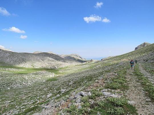 Widok na ujście doliny.