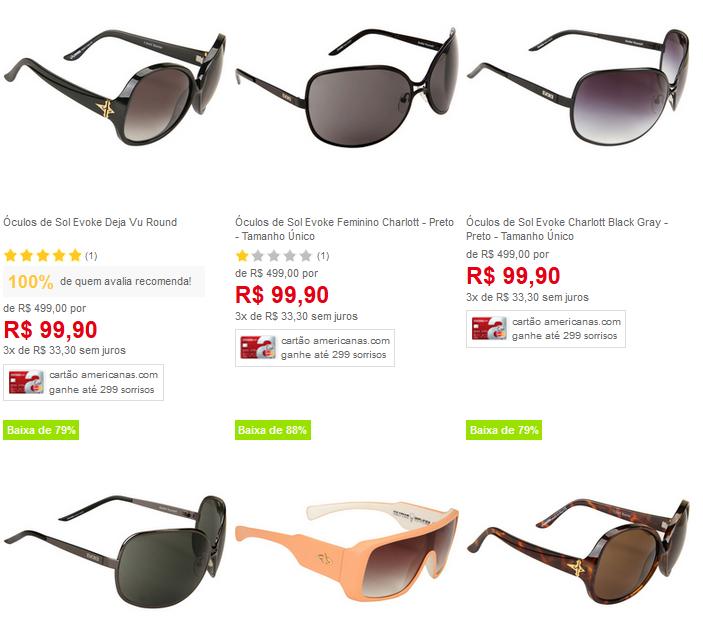 Óculos de Sol Femininos Evoke - Vàrios Modelos Disponíveis   - Bem Barato -  Cupons Descontos Bugs e Promoções d14784ad0a