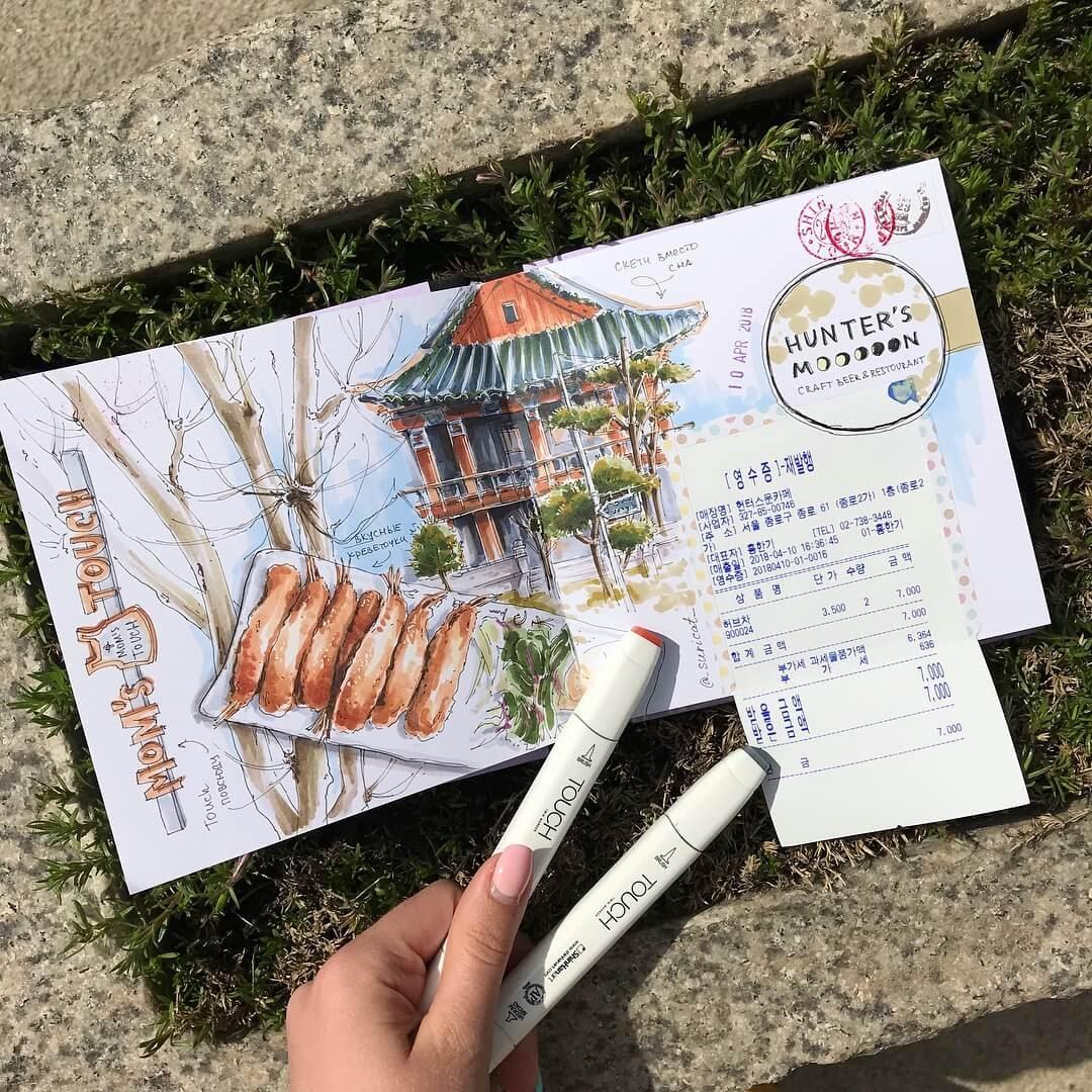 10-Korea-Ekaterina-Surikat-Interior-Design-Architecture-and-Travel-Journals-Drawings-www-designstack-co