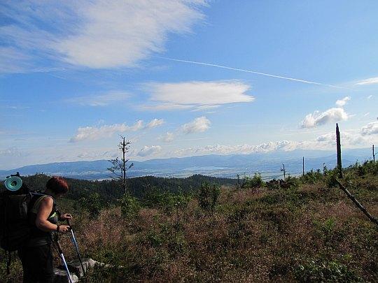 Partie szczytowe góry Glinne (1034 m n.p.m.).