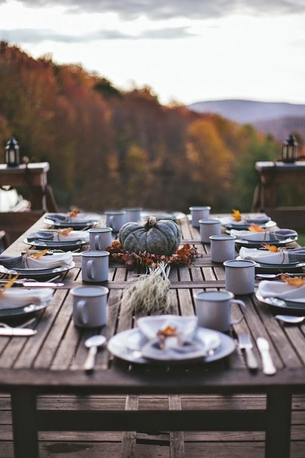 thanksgiving day decoración mesa