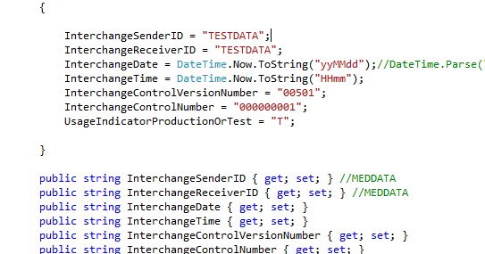 Create 270 X12 Eligibility Request Message using C# (MS  NET)