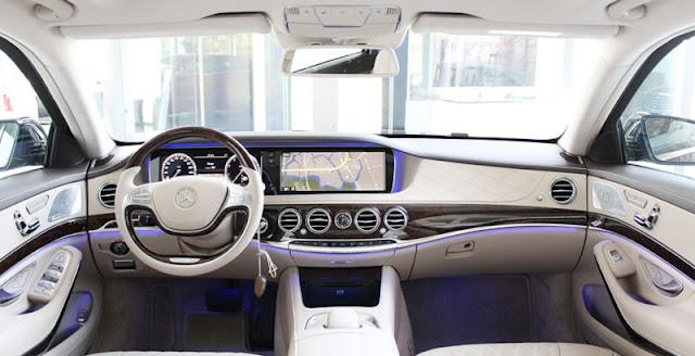 Bảng Taplo Mercedes S450 L Luxury 2018 với điểm nhấn thiết kế ở cặp Màn hình trung tâm