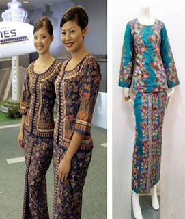 baju batik pramugari airasia
