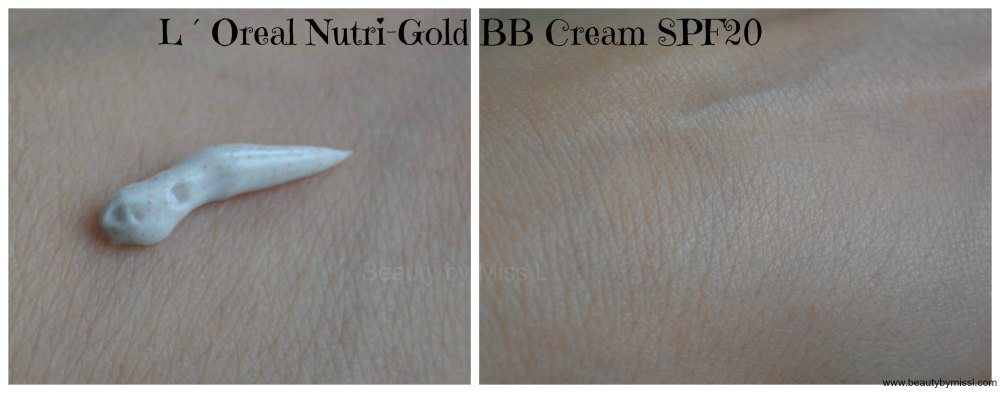 L´Oreal Nutri Gold BB Cream SPF20 swatch