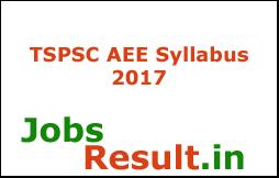 TSPSC AEE Syllabus 2017