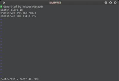 jangan lupa pada server centos nya rubah ip dnsnya di /etc/resolv.conf