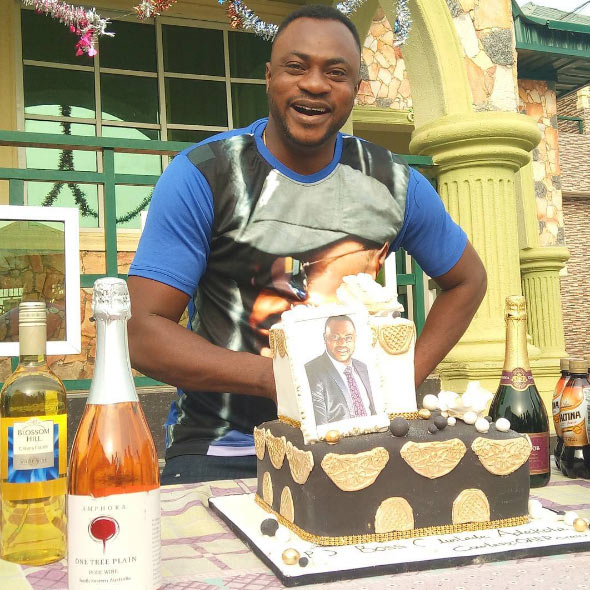 Popular Yoruba movie actor Odunlade Adekola celebrates birthday with customized cake