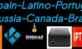 Lista Latino Spain Lasexta PT Brasil Canada Russia