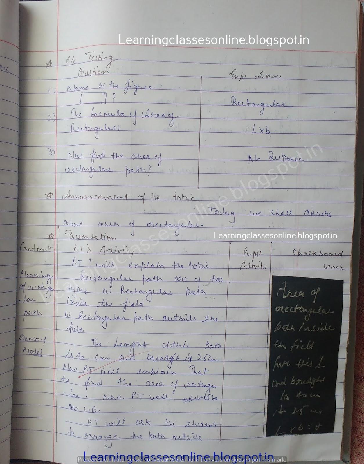 Sample Lesson Plan In Math Grade 8,