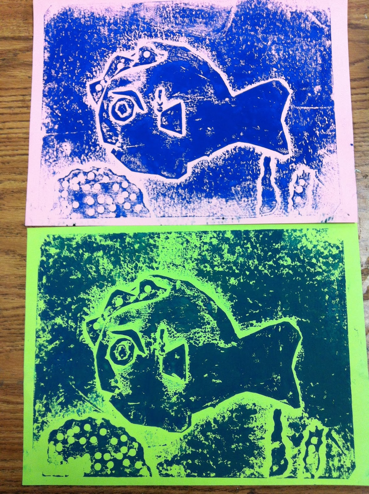 Chumleyscobey Art Room Collagraph Prints With 3rd Grade