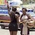 Viral Photos Of A Bootilicious Lady On Mini Dress Selling Satchet Water In #Ghana *