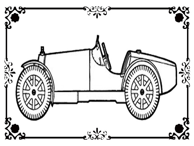 classic car coloring pages to print