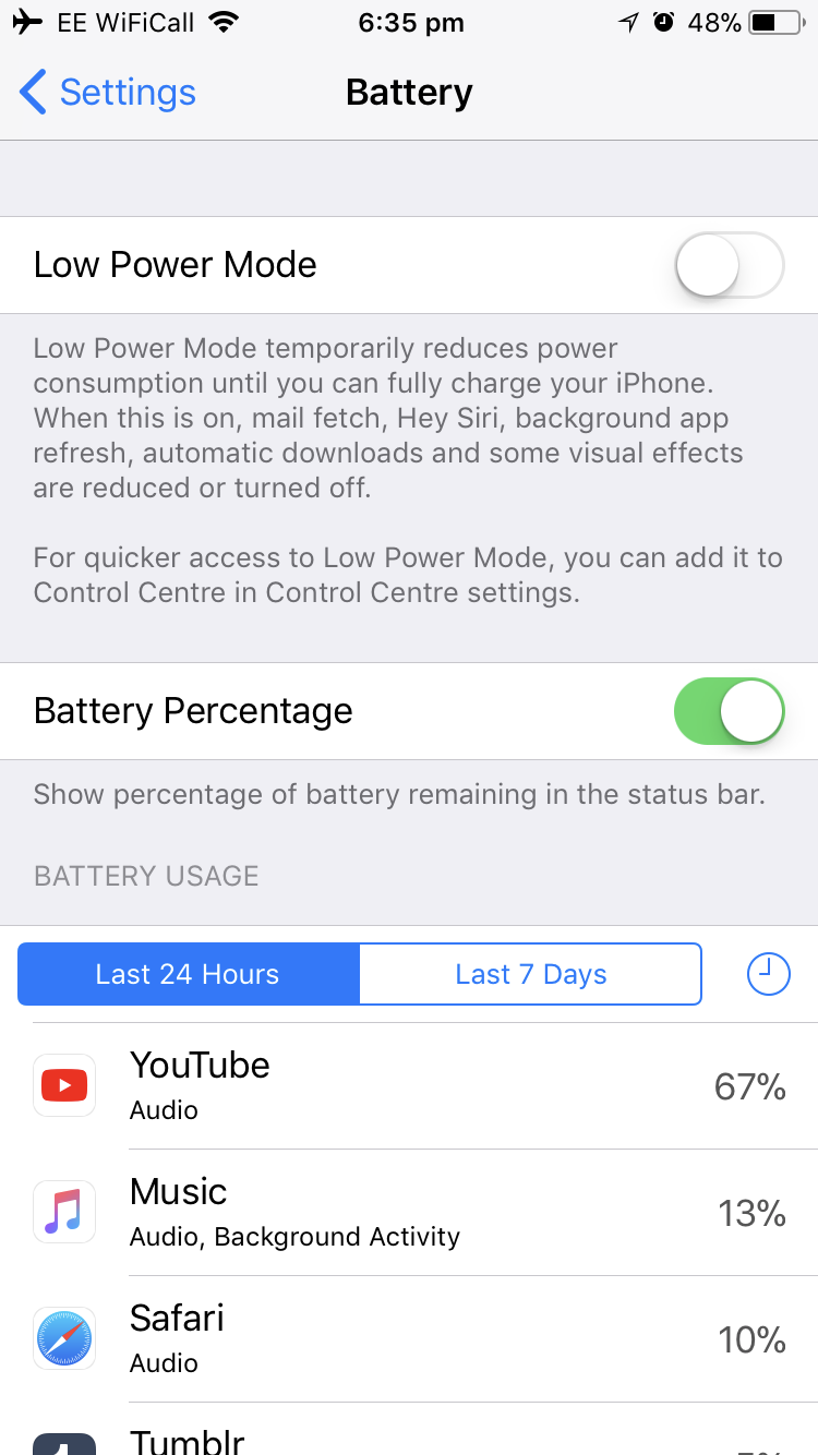 iPhone 8 YouTube causing battery drain and heat up