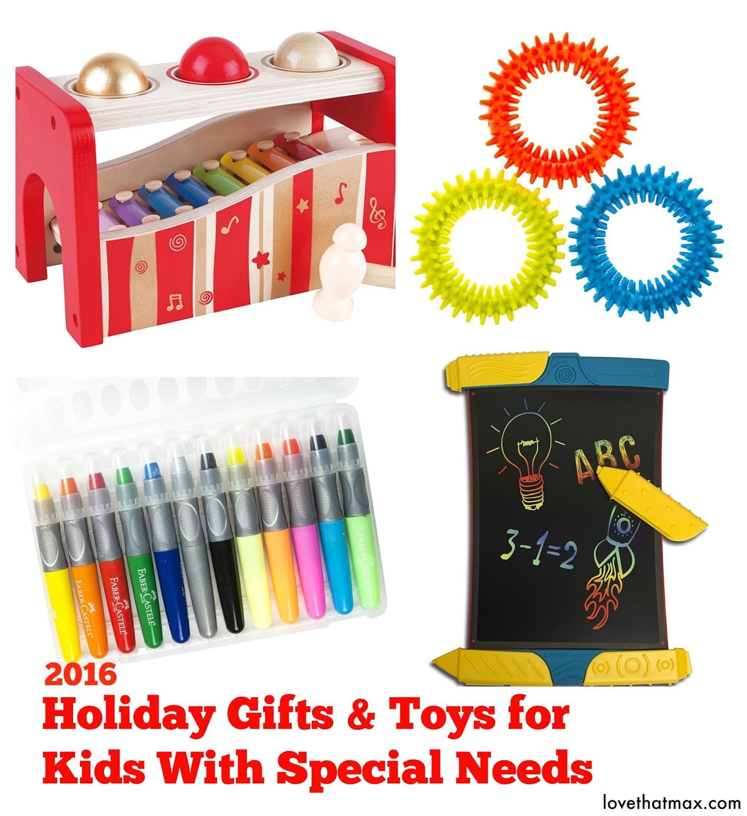 Love That Max Holiday ts and toys for kids with special needs
