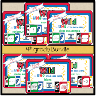 WILD Card 4th grade bundle