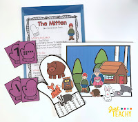 The Mitten Take Home Book Pack, www.JustTeachy.com