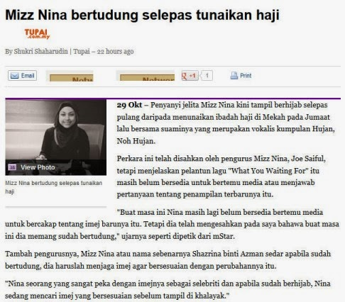 Article Mizz Nina Berhijab