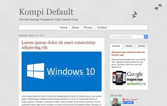 Free Blogger Template - Kompi Default