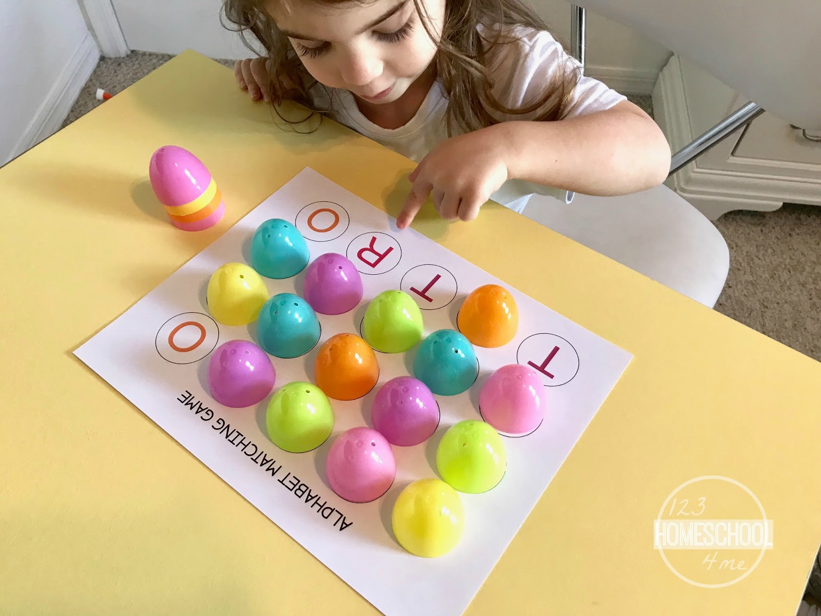 Free After Easter Alphabet Matching Game