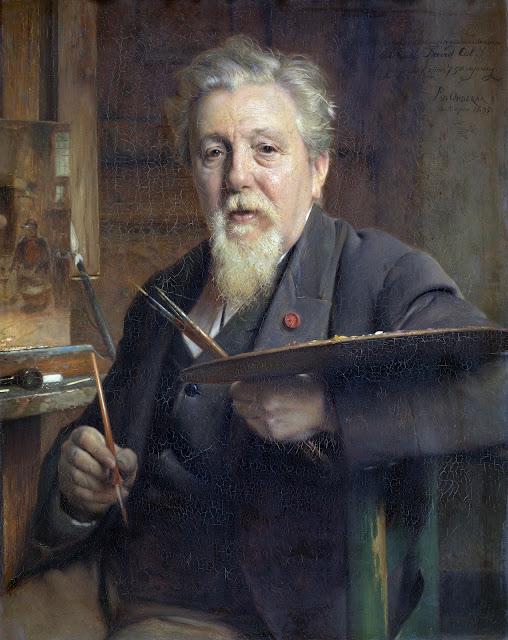 Pierre Jean van der Ouderaa, Self Portrait, Portraits of Painters, Fine arts, Jean van der Ouderaa