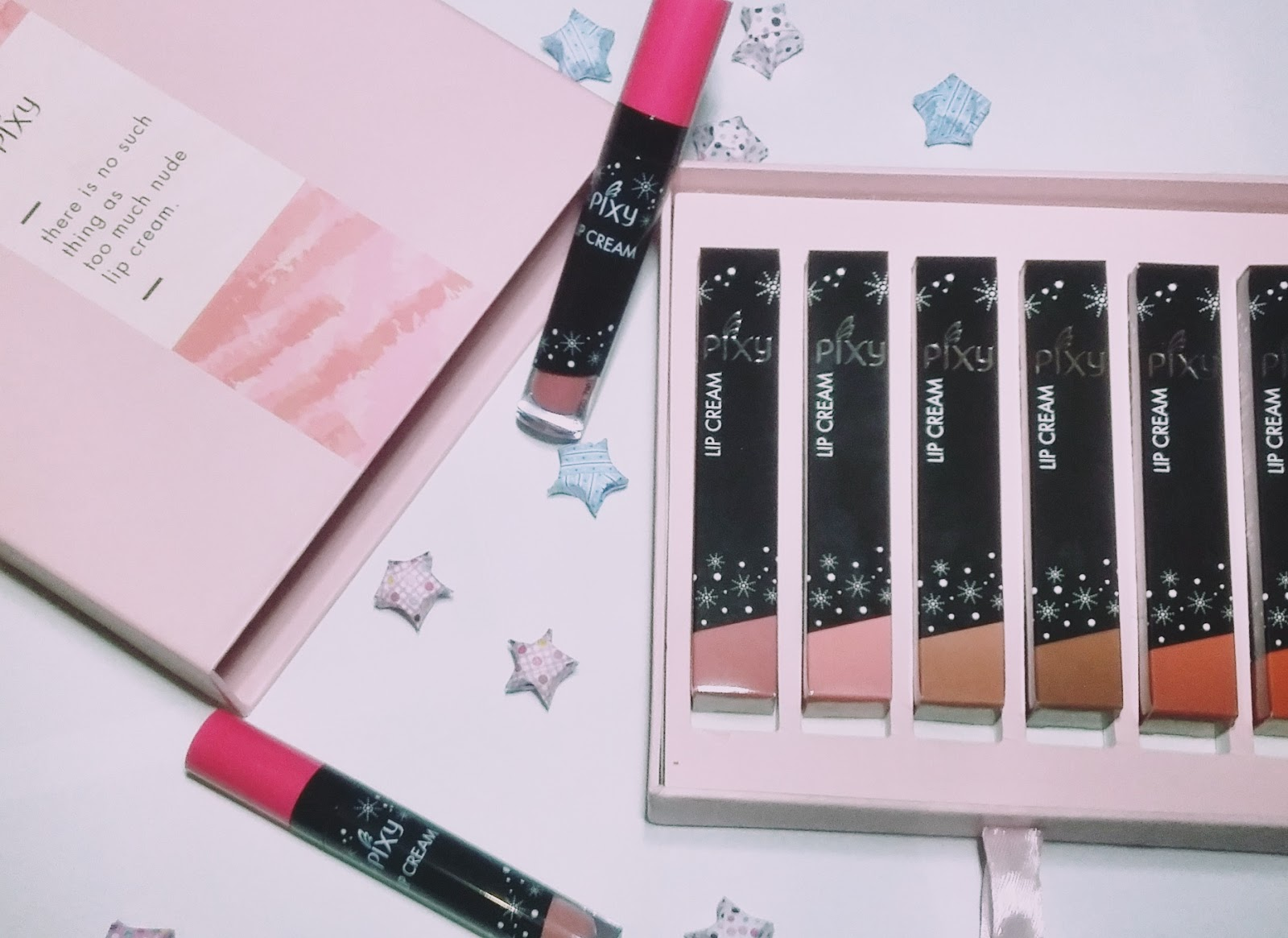 [REVIEW] NEW 6 Shades! Pixy Lip Cream Nude Series