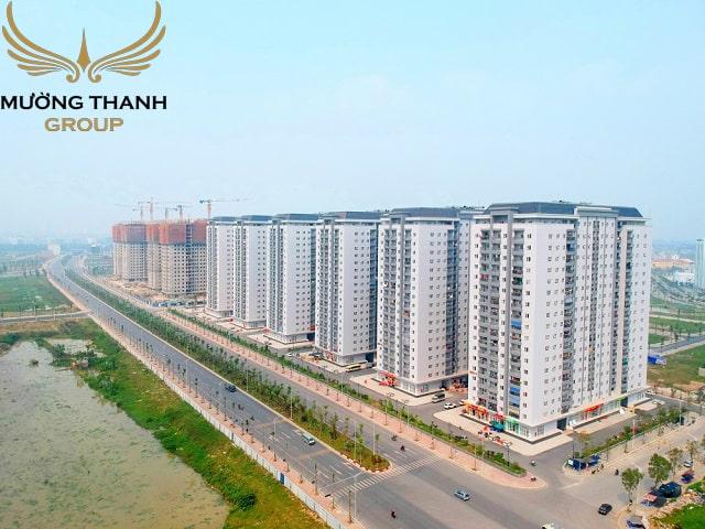 Tổ hợp chung cư B2.1 HH03 trong khu đô thị đã được người dân về ở phủ kín