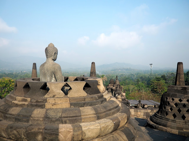 Borobudur Temple near Yogyakarta, Java, Indonesia