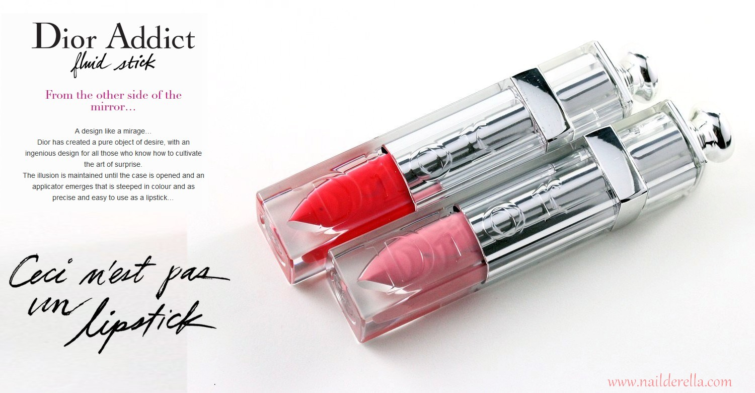 0aa34d420b4a Dior Addict Fluid Stick enables a flawless application in a single sweep   the high-impact colour and long wear of a classic lipstick, combined with  the ...