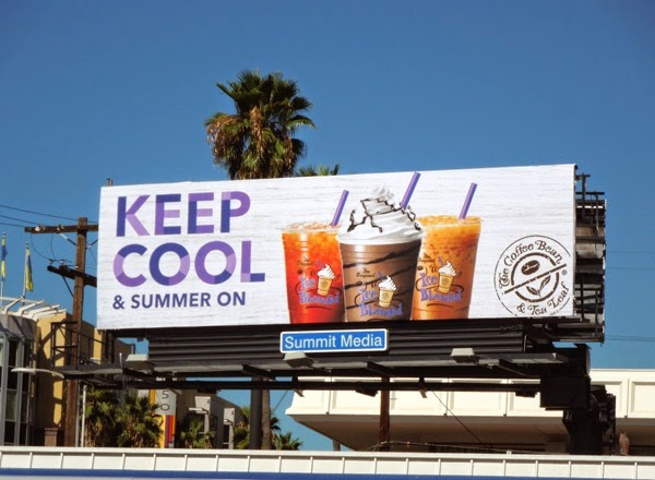 Keep cool Summer on Coffee Bean Tea Leaf billboard