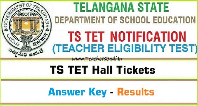 TS TET hall tickets,TSTET Answer Key, TSTET Results