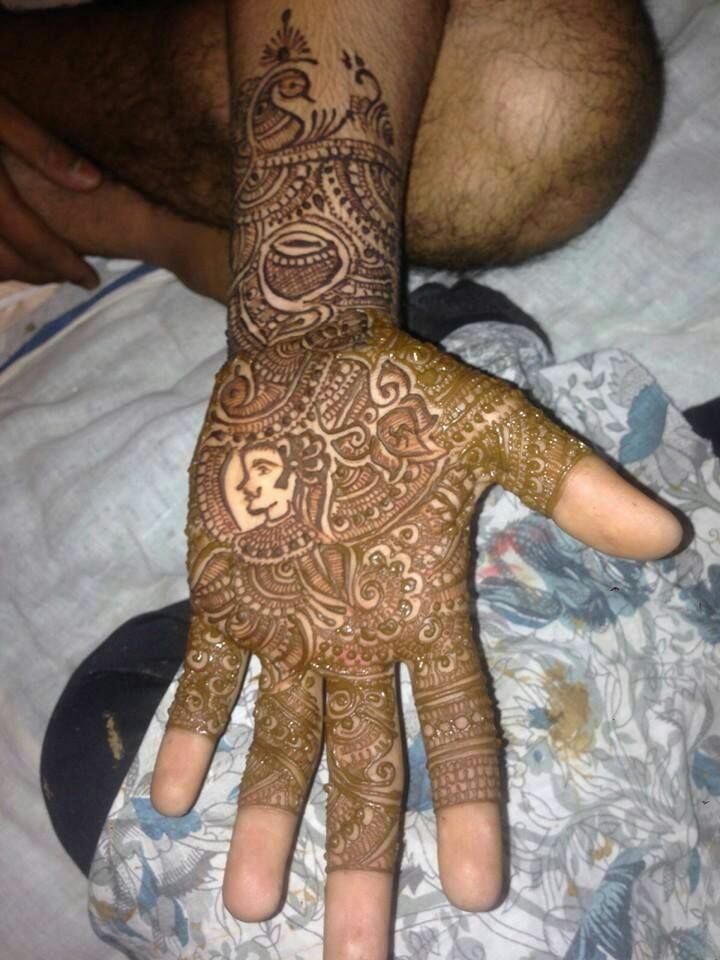 latest dulha mehndi design
