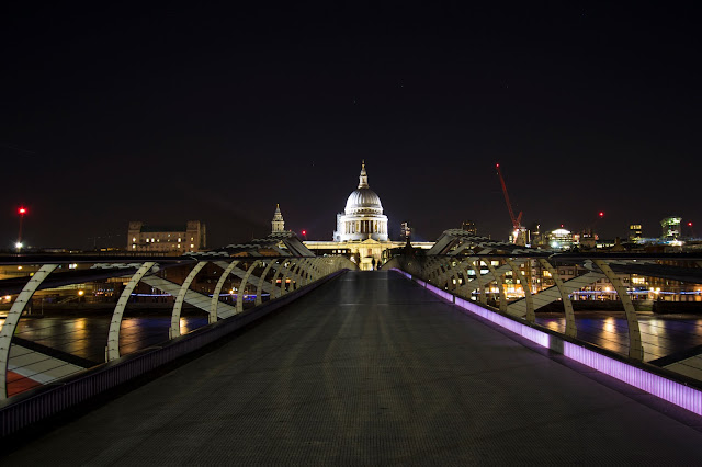 St. Paul Cathedral e Millennium bridge-Londra