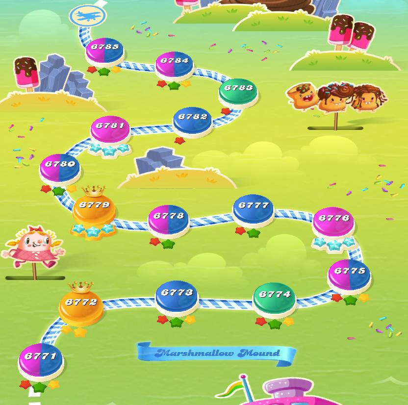 Candy Crush Saga level 6771-6785