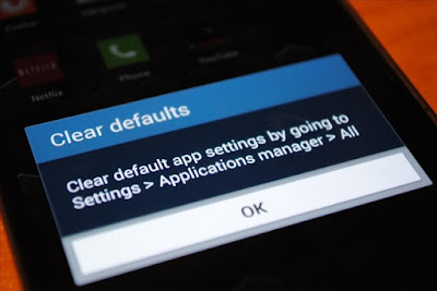 default setting in a mobile phone