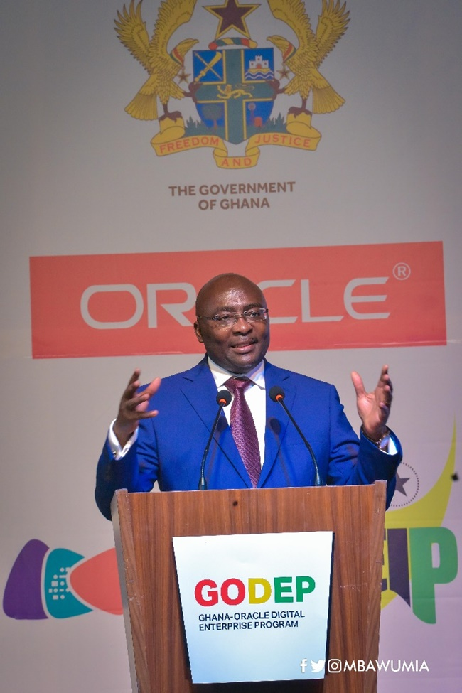 Take Advantage of Ghana-Oracle Partnership to Innovate - VP Bawumia to Youth